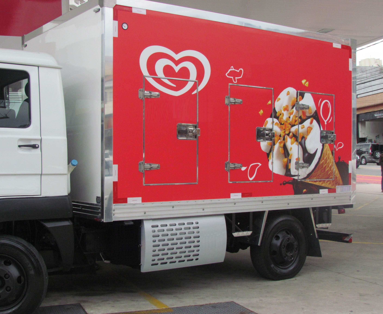Carroceria para transporte de sorvetes