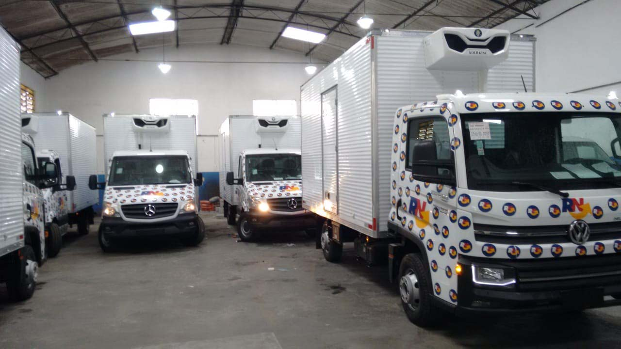Equipamentos de refrigeração para transportes