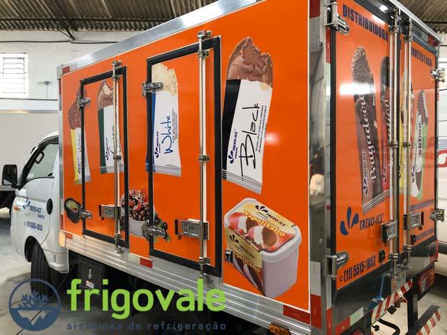 Refrigeração para baú sorveteiro